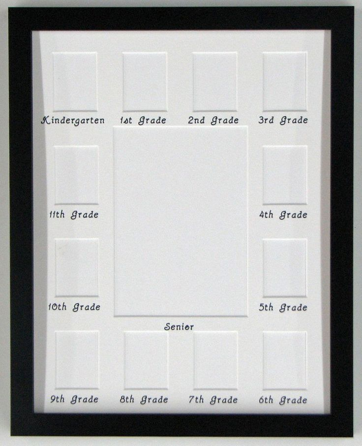 This 11x14 Collage Picture Mat School Years Picture Frame is available in gold, silver, cherry, mahogany, and black. The mat is acid-free and off-white in color and the lettering is done in a fade resistant black ink. | eBay!