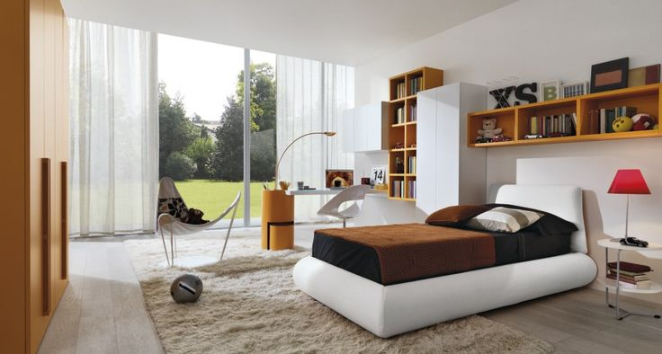 children bedroom design with large transparent window for natural sunlights