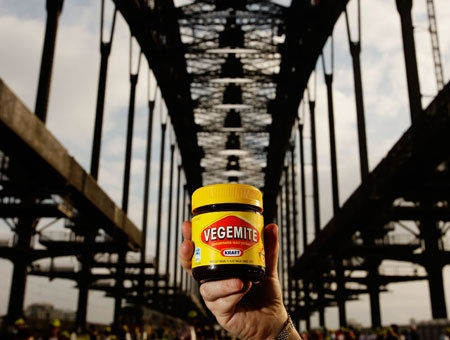 Kraft Vegemite with the Sydney Harbor Bridge - two Australian Icons in one shot!