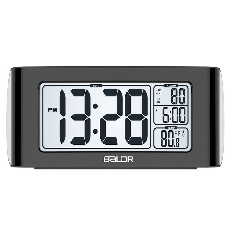 Get the world's most advanced BALDR Electronics Nap Timer Alarm Clock to fall asleep fast, stay asleep, and wake up feeling refreshed! It also have Alarm and snooze function, White back light and you can just press the button to set the nap time.