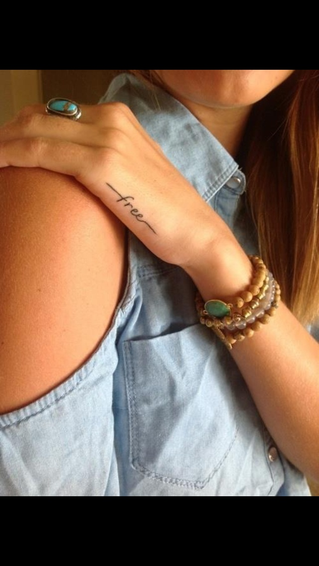 Love this on the ribs with small birds at the end