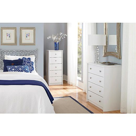 Essential Home Belmont 4 Drawer Dresser Chest - White   KMart SALE $29 dresser (reg $59)  NICE COLORS for LR with white furniture