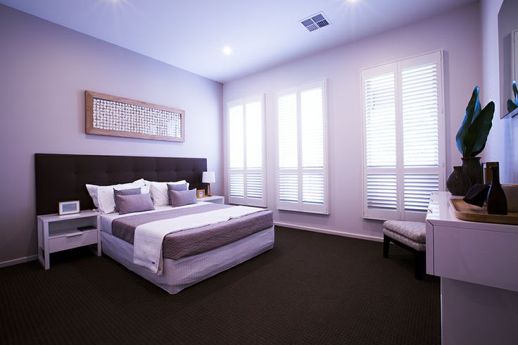 This spacious master bedroom has a gorgeous natural glow. #bedroom #weeksbuilding #homedecor