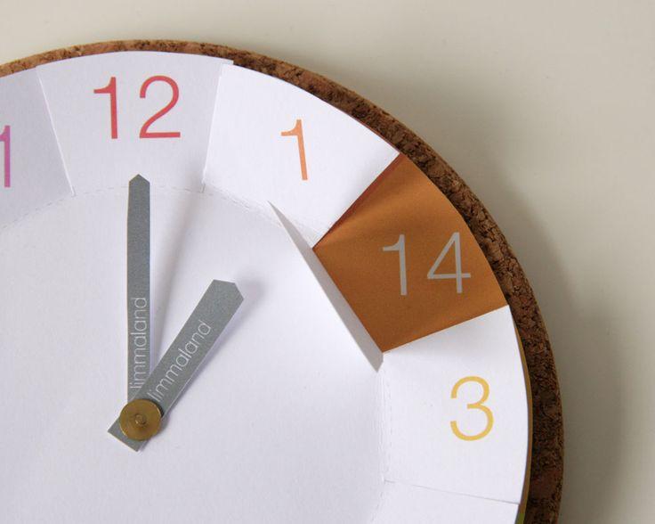 Uhrzeit lernen - IKEA Hack mit Korkuntersetzer - www.limmmaland.com