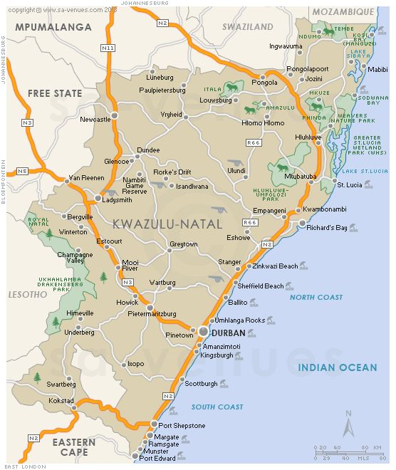 Image result for kwazulu natal map pdf