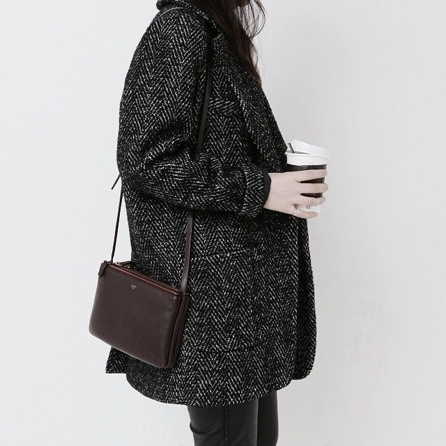 Love this monochrome coat! | @andwhatelse