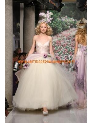 splendidi progettista ricamo raso fiori fatti a mano abiti da sposa 2013