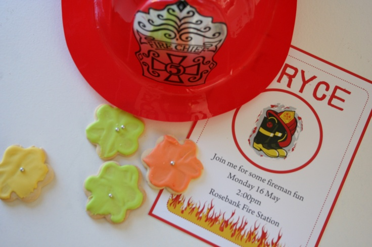 Fireman pary theme has always been a hit with my boys get a personlised invitation and party pack stickers to match from online store www.kidslabels.co.za