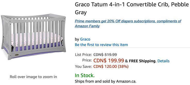Amazon Canada Deals: Save 38% on Graco Tatum 4-in-1 Convertible Crib & 24% on Graco Travel Lite Pack N Play with... http://www.lavahotdeals.com/ca/cheap/amazon-canada-deals-save-38-graco-tatum-4/209544?utm_source=pinterest&utm_medium=rss&utm_campaign=at_lavahotdeals