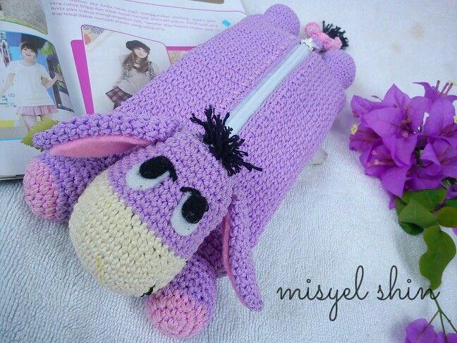 Crochet amigurumi pencil case