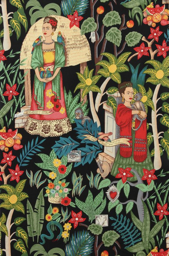 frida's garden fabric by alexander henry