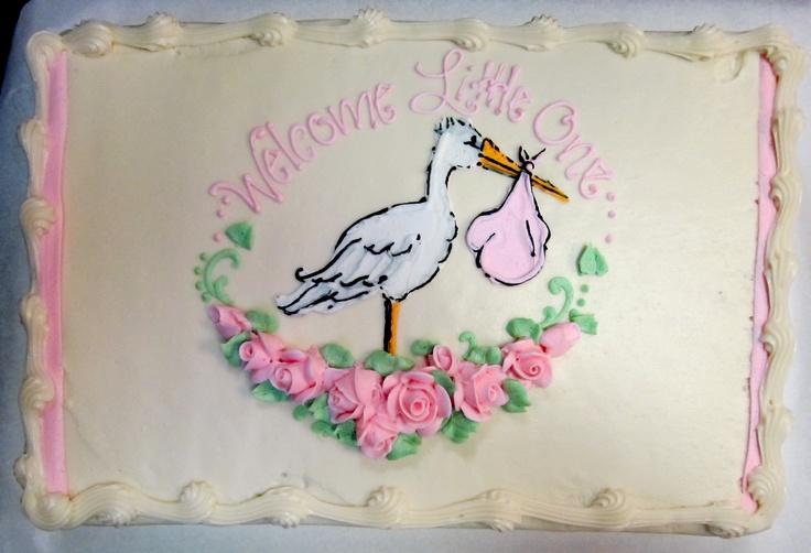"""Delivery Stork"" baby shower cake #icingonthecakelosgatos"