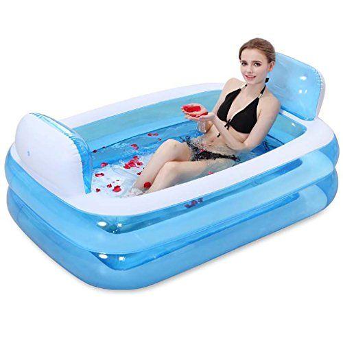 Mizii Faltbare Aufblasbare Dicke Warme Erwachsene Badewanne, Kinder Aufblasbarer Pool, Rosa ( Farbe : Blau )