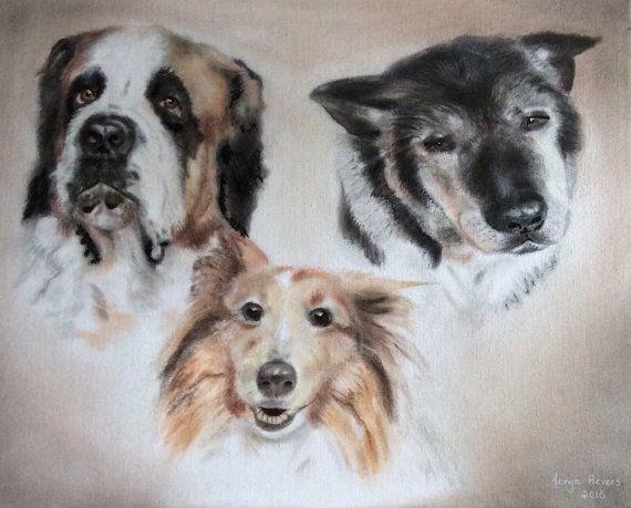 Custom pastel portrait, dog-portrait, pastel drawing - sample