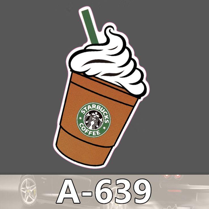 A-639 Starbucks Drinks Waterproof Cool DIY Stickers For Laptop Luggage Fridge Skateboard Car Graffiti Cartoon Sticker