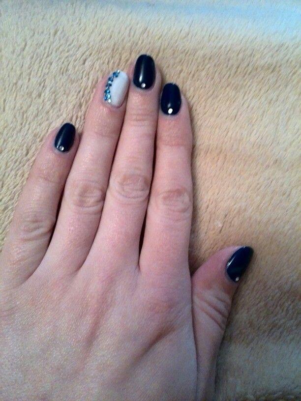 Blue & white #nails