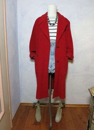 Kaufe meinen Artikel bei #Kleiderkreisel http://www.kleiderkreisel.de/damenmode/mantel/139242333-roter-langer-80s-vintage-mantel-aus-wolle-passt-36-38-40-s-m-l-winter-urban-trend