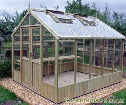 Swallow Raven 8x10 Wooden Greenhouse