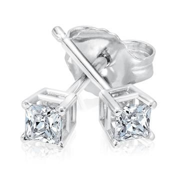 Princess Diamond Solitaire Earrings 1/5ctw - Item 19257278 | REEDS Jewelers