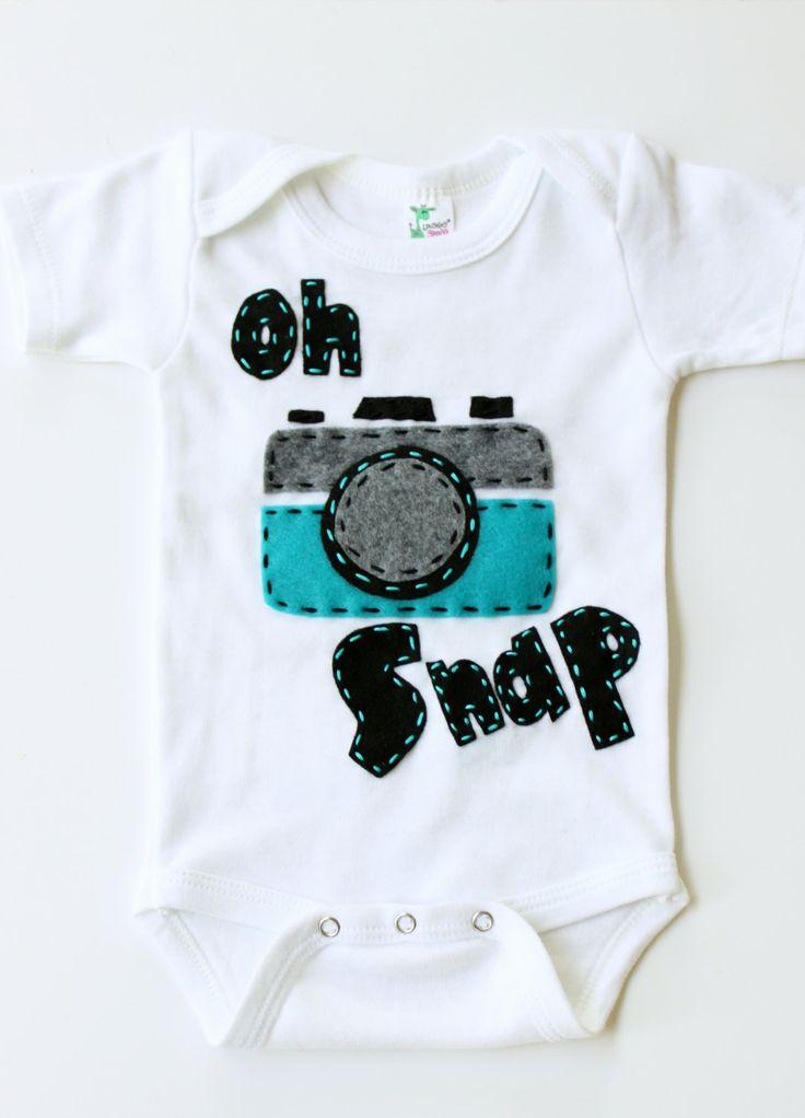 Oh snap onesie, vintage camera, unisex, baby shower gift,. $17.99, via Etsy.