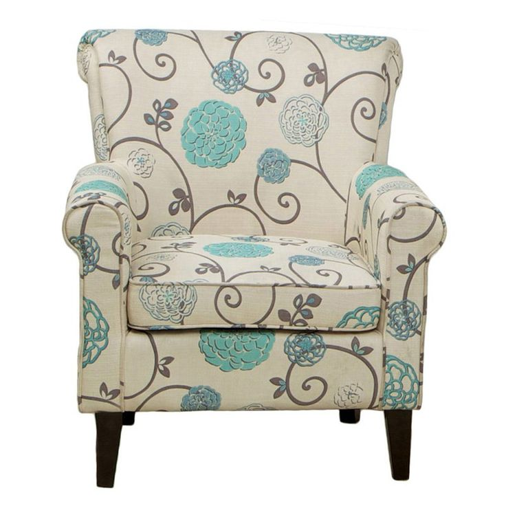 Flowered Fabric Club Chair    263 99  hayneedle135 best Chairs images on Pinterest   Accent chairs  One kings  . Aqua Leather Accent Chair. Home Design Ideas