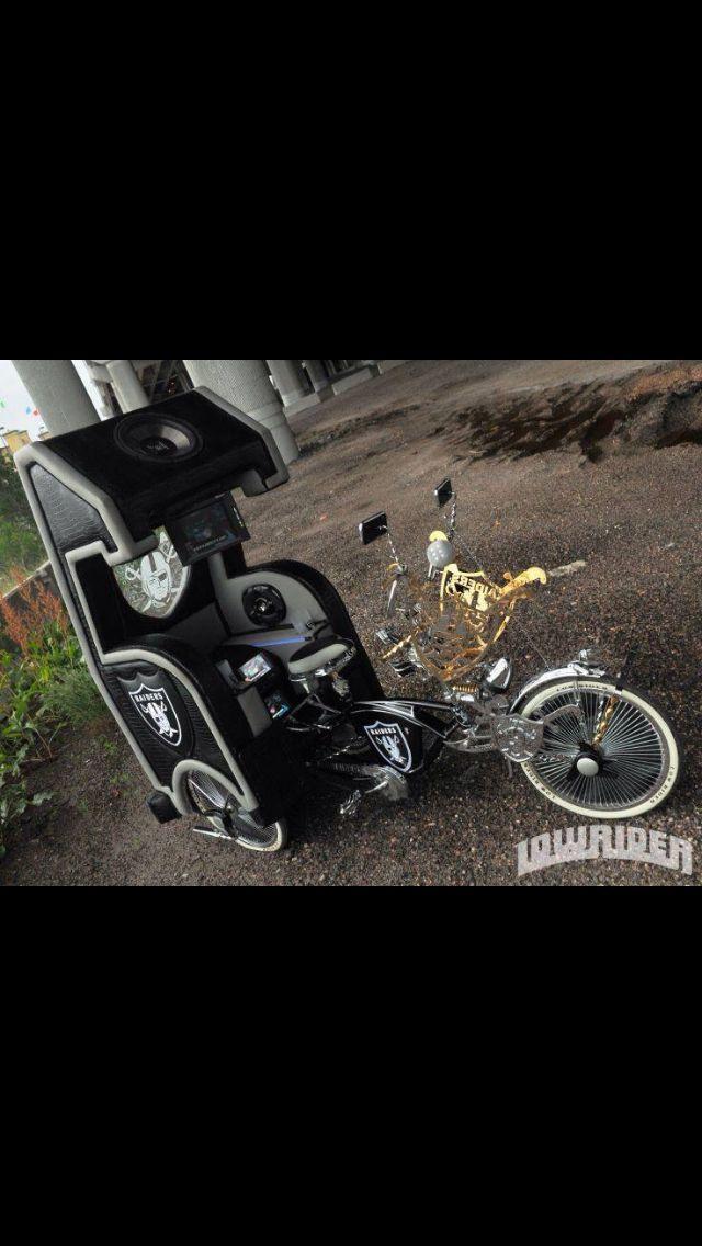 Oakland Raiders Lowrider Trike