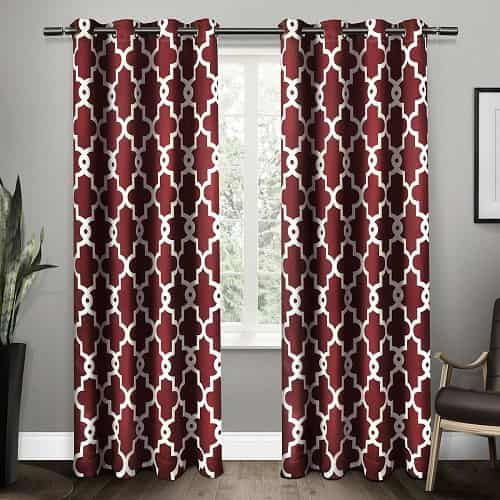 Charming Burgundy Curtains For Living Room