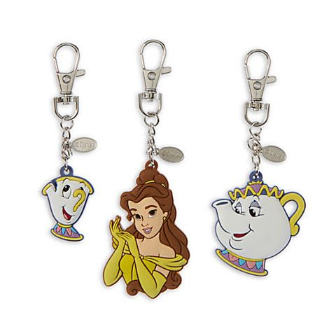 Beauty and the Beast Bag Charms | Disney Store