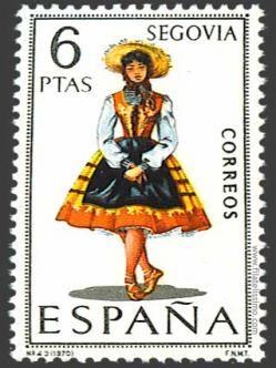 Spain stamp - Regional Costume Segovia