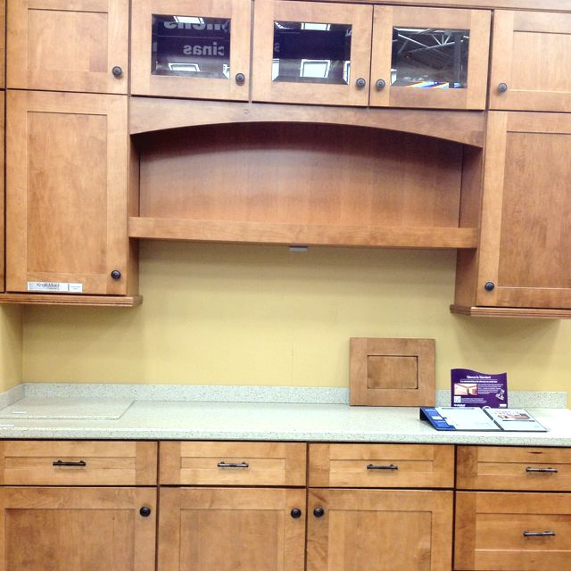 The Best Wall Colors To Update Stained Cabinets: Shaker Style Maple Cabinets By Kraftmaid