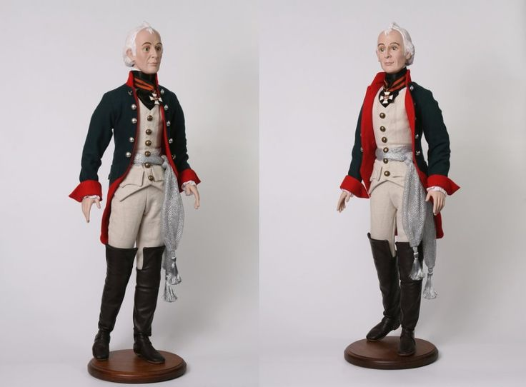Jointed doll of Alexander Suvorov one of the greatest generals of Russian army in XVIII century.