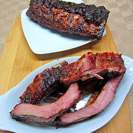 Smoked pork back ribs recipe