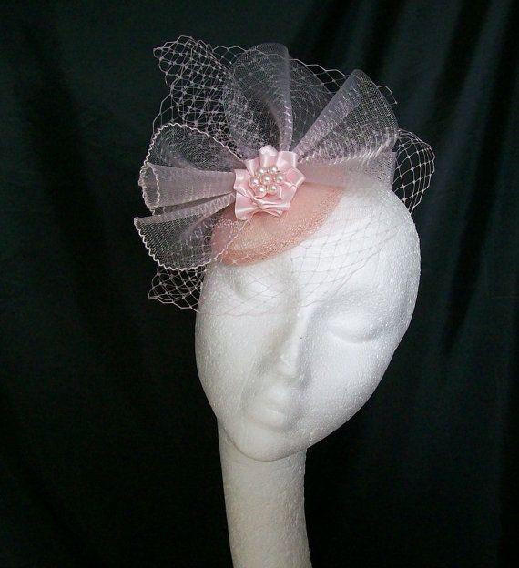 Elegant Pale Pink Veil Crinoline & Diamante by IndigoDaisyWeddings