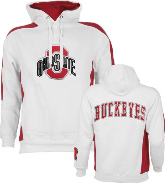 The Ohio State Buckeyes are your favorite team and you're proud of it so why not let everyone know with this White Spiral Pullover Fleece Hoodie.