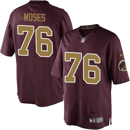 Nike Elite Morgan Moses Burgundy Red Youth Jersey - Washington Redskins #76 NFL 80th Anniversary Alternate