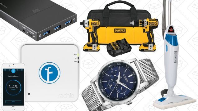Today's Best Deals: Power Tools Steam Mop Citizen Watches and More
