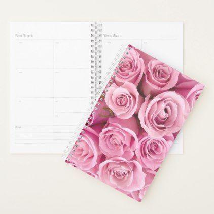 Elegant Pink Rose Spiral Planner | Zazzle.com