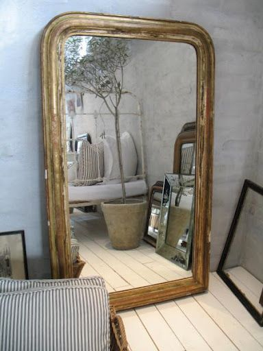 Huge french mirror brocante antics