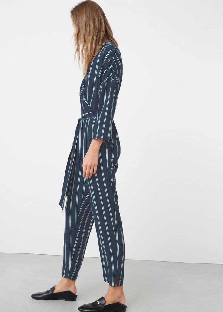 Printed wrap jumpsuit | MANGO