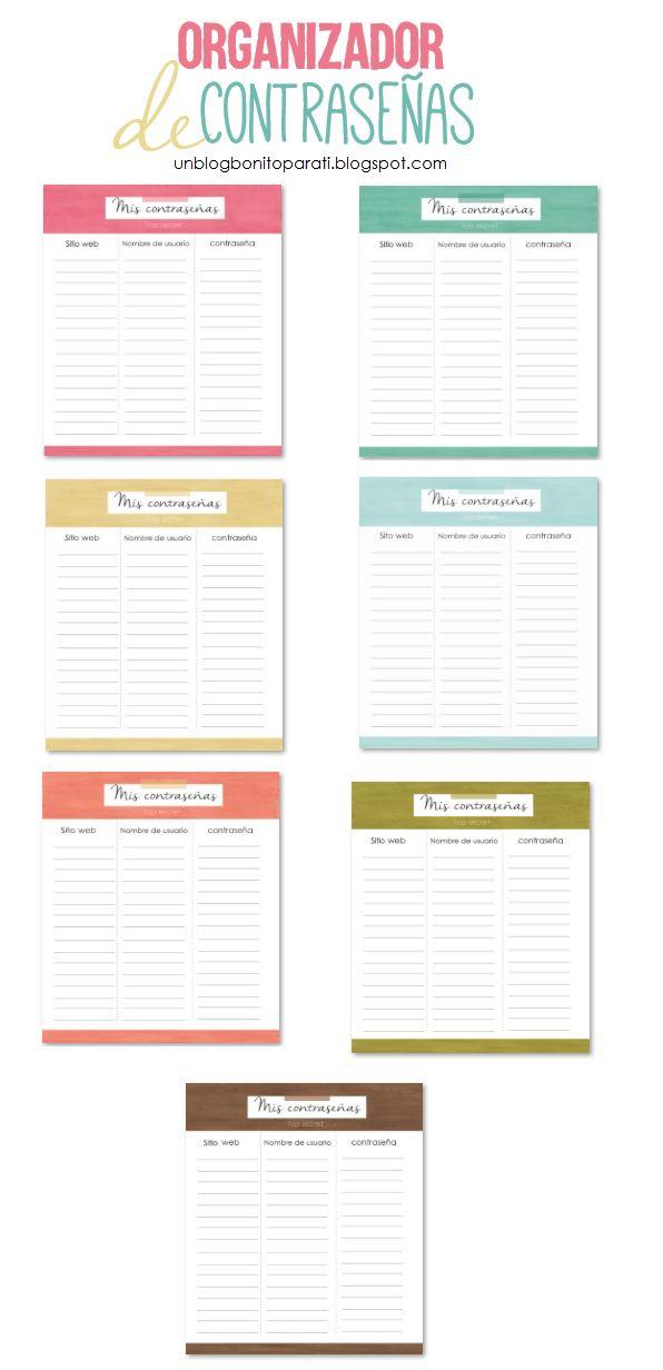 Diseño de blogs: Organiza las contraseñas de tus sitios web