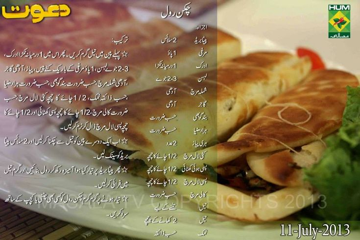 Rahat Cake Recipes In Urdu: Chicken Roll Recipe In English Urdu By Chef Zakir Masala