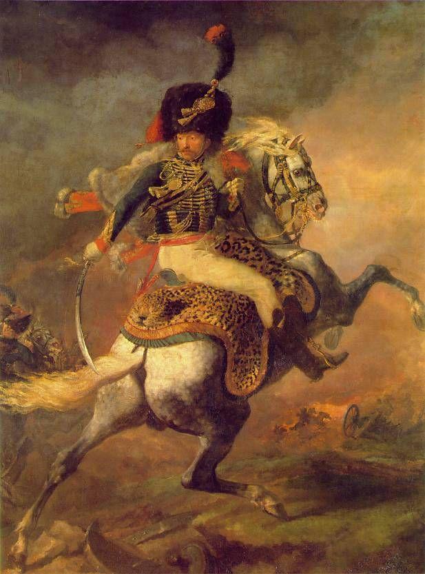 Gericault, Officier de chasseurs à cheval chargeant, 1812