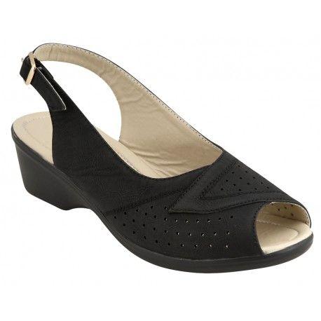 Γυναικείο πέδιλο B-Soft-Μοντέλο Cathy 01  σε μπεζ και μαύρο χρώμα. Τιμή: 24 Ευρώ