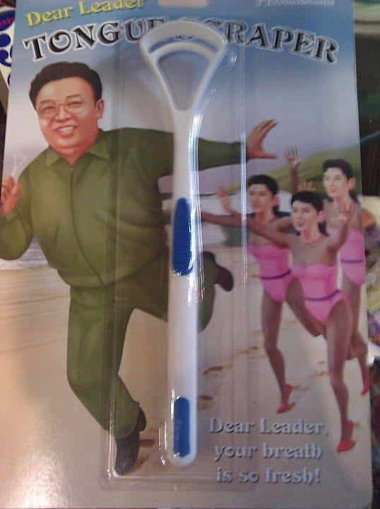 what am I looking at?North Korean, Wtf Httpbitlyhkjyeh, Funny Things, Korean Tongue, Tongue Scraper, Scraper Today, Funny Stuff, Dear Leader, Leader Tongue