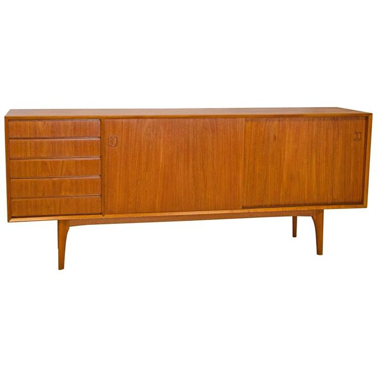 Danish Teak Credenza or Sideboard | From a unique collection of antique and modern credenzas at https://www.1stdibs.com/furniture/storage-case-pieces/credenzas/