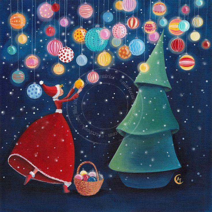 "https://www.facebook.com/MarieCardouatIllustratrice ...... ""Christmas Night"" -  by Marie Cardouat"