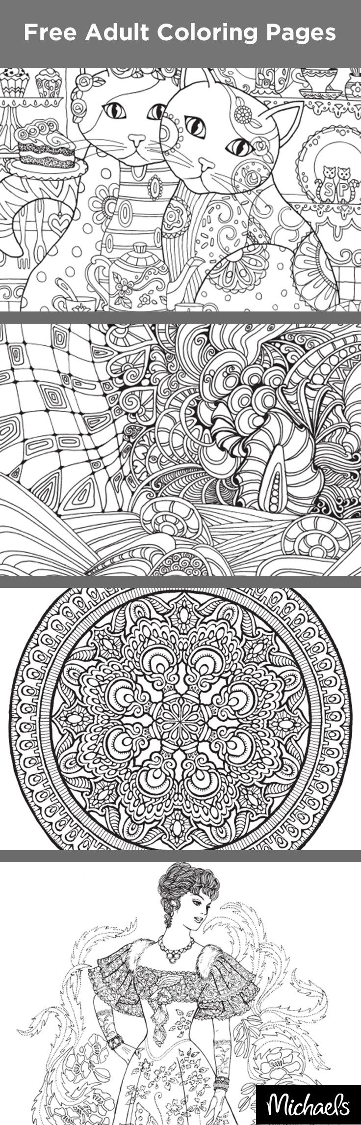 Coloring Has Proven To Reduce Stress And Help You Relax All While Bringing Out Your Creativity Get Started With Some Free Pages From Michaels