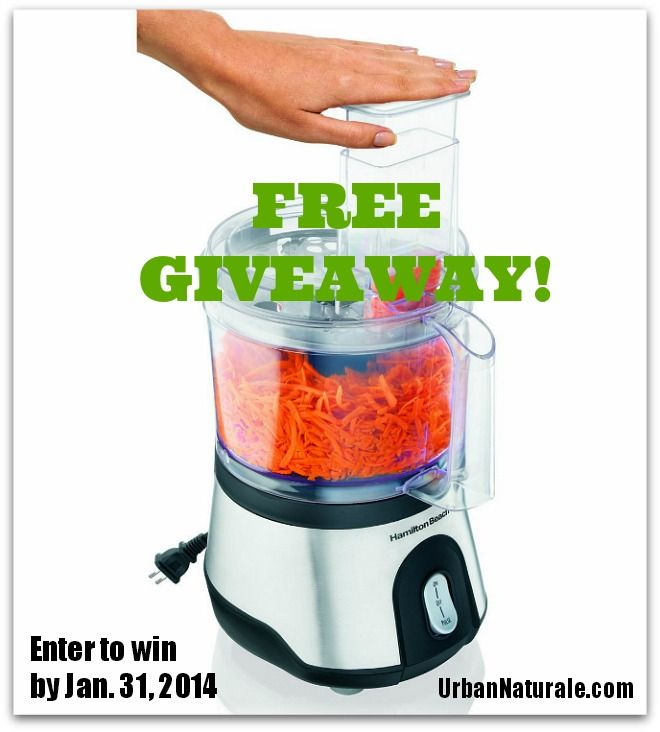 A New Year, A New You! Free Giveaway: Enter to Win a Hamilton Beach Food Processor! Closes Jan. 31, 2014