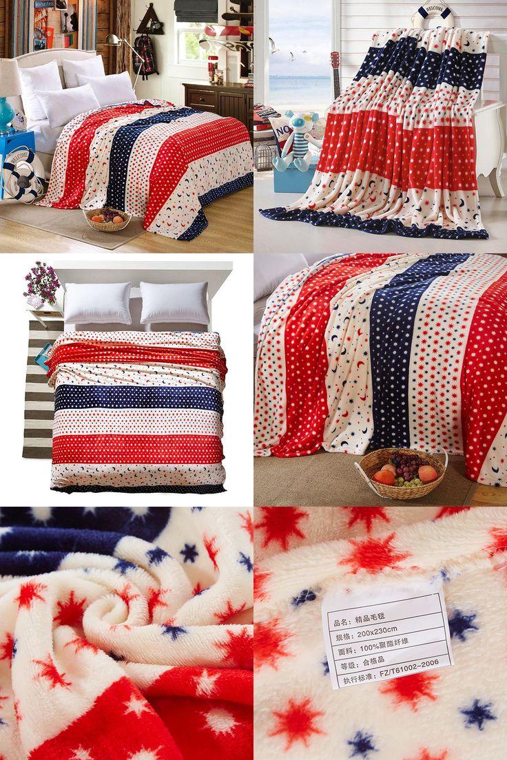 [Visit to Buy] XINLANISNOW British Fleece Blanket on Bed Coral Fleece Warm Throw Blankets on Sofa Airplane Travel Home Bed Sheet 200x230cm #Advertisement