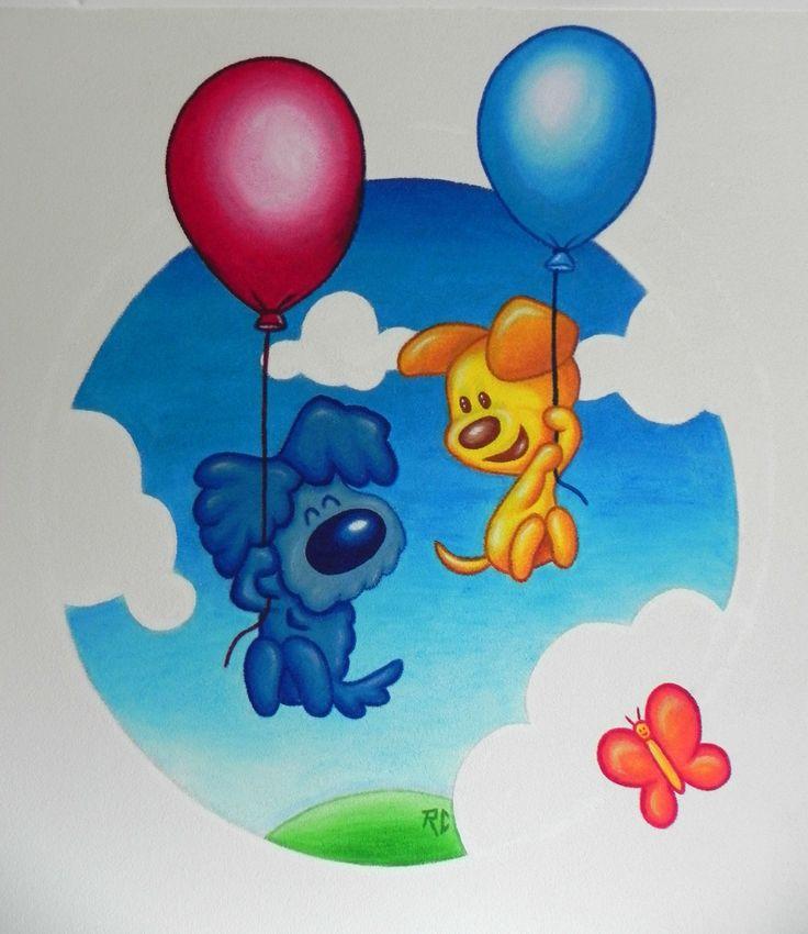 Mural ¨Woezel en Pip¨